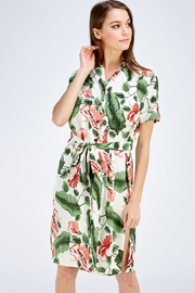 OVI Floral Shirt Dress - Product Mini Image