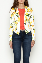 OVI Lemon Print Blazer - Front full body