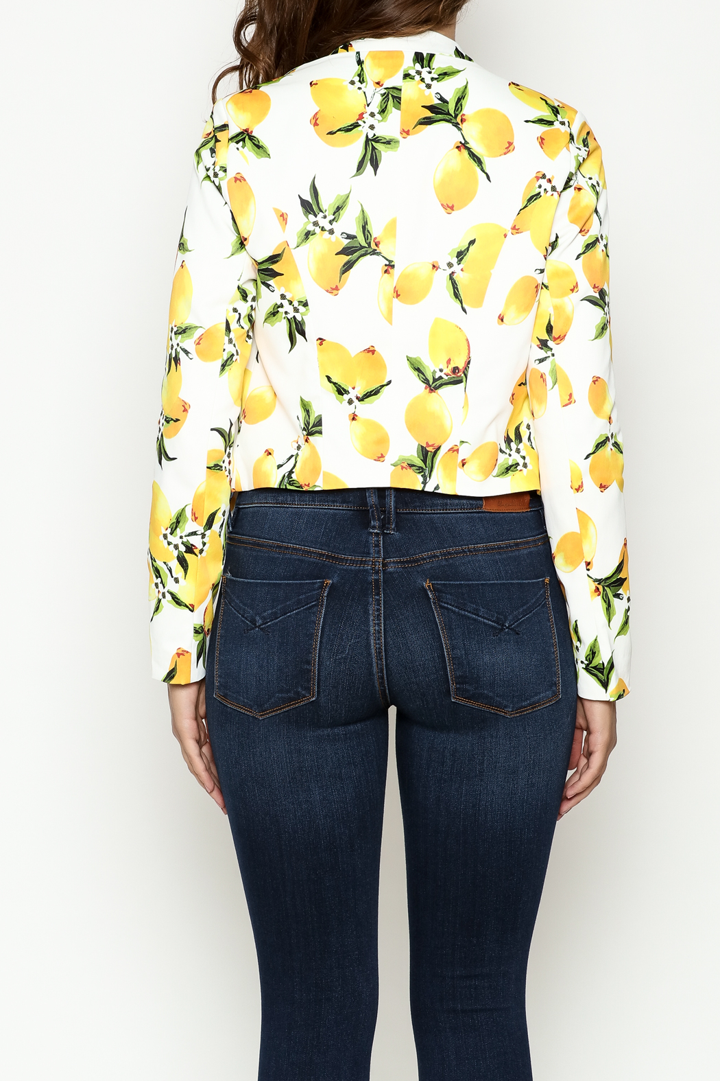 OVI Lemon Print Blazer - Back Cropped Image