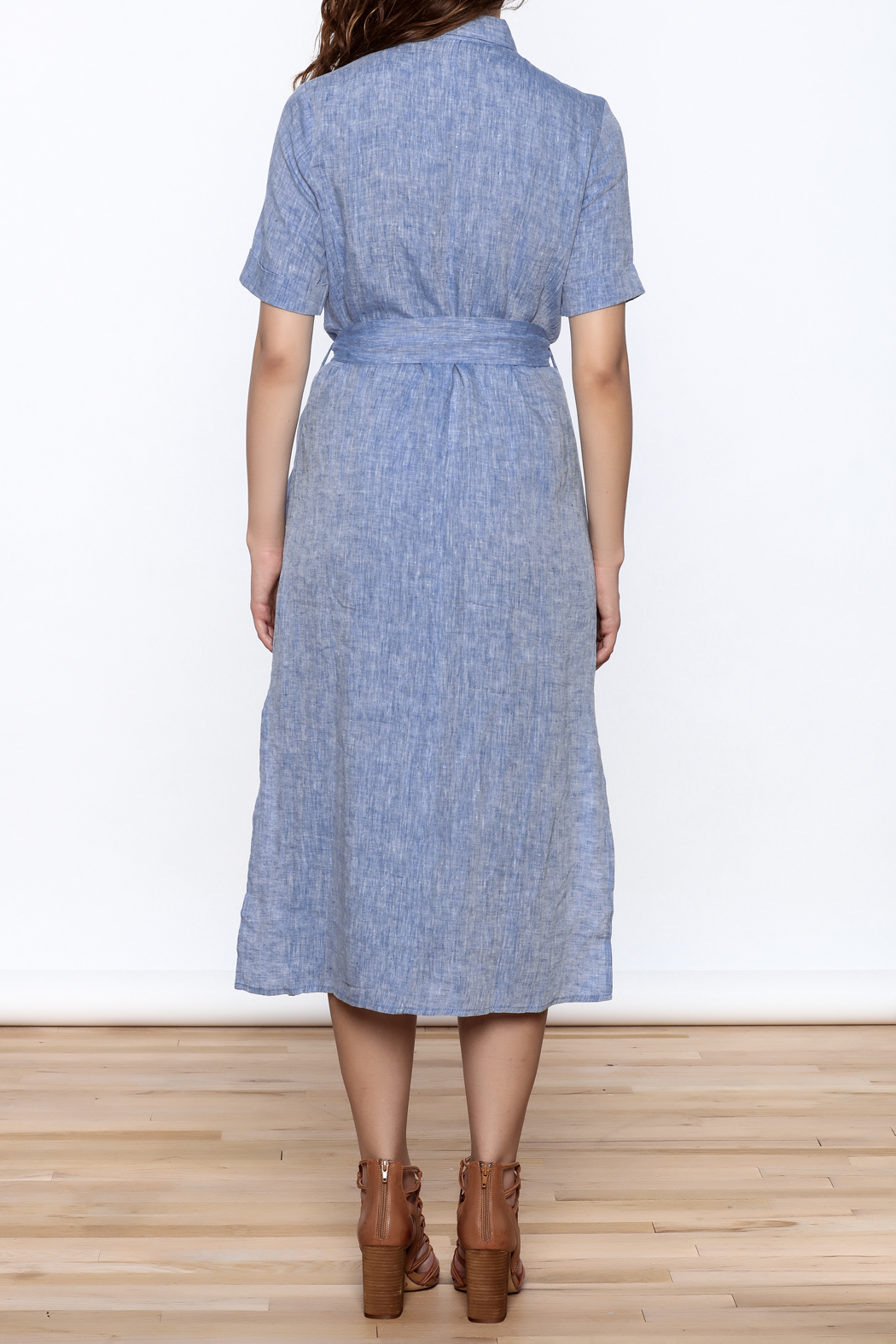 Ovi Linen Midi Dress From California By Isalis Shoptiques