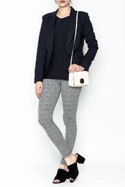 OVI Navy Fitted Blazer - Side cropped