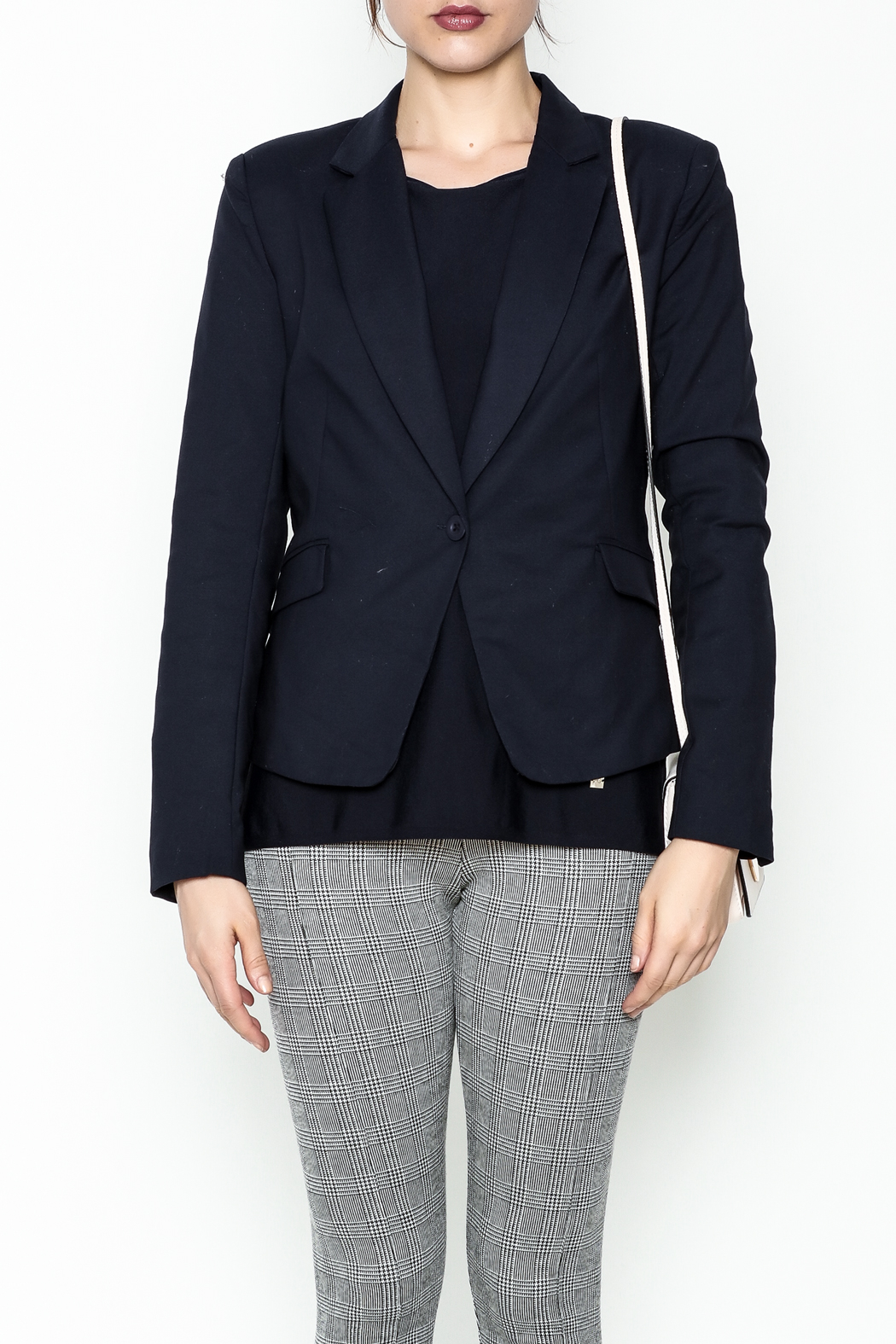 OVI Navy Fitted Blazer - Front Full Image