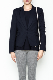 OVI Navy Fitted Blazer - Front full body