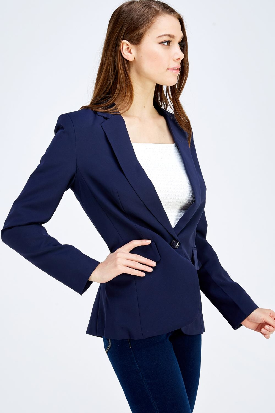 OVI One Button Blazer - Front Cropped Image