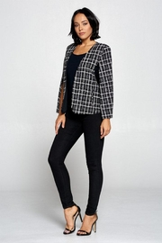 OVI Plaid Cape Blazer - Back cropped