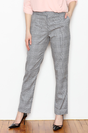 OVI Tapered Plaid Pants - Front full body