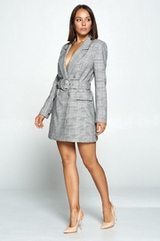 OVI Plaid Trench Coat - Side cropped