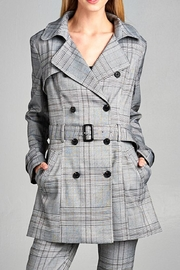 OVI Plaid Trench Coat - Front cropped