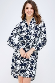 OVI Printed Shirt Dress - Product Mini Image