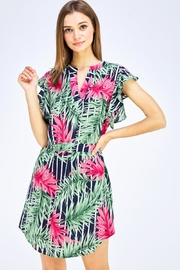 OVI Tropical Print Dress - Product Mini Image