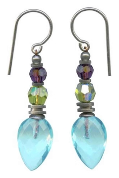 Owen Glass Aquamarine Glass Earrings - Alternate List Image
