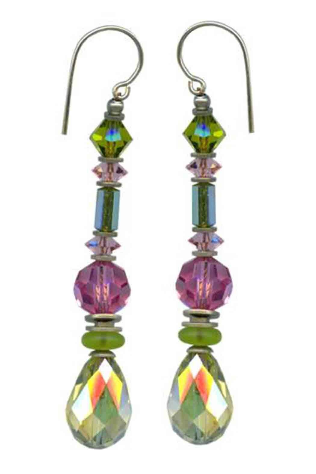 Owen Glass Splash Earrings - Main Image