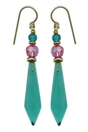 Owen Glass Teal/pink Glass Earrings - Product Mini Image