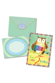 Eeboo Owl 2 Birthday Card - Product Mini Image
