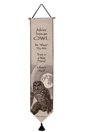 Manual Woodworkers and Weavers Owl Advice Tapestry - Product Mini Image