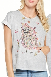 Inoah Owl Hooded Top - Front cropped