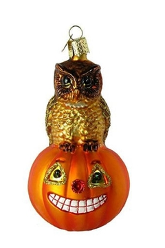 Old World Christmas Owl Pumpkin Ornament - Product List Image