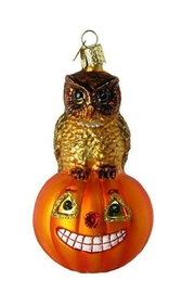 Old World Christmas Owl Pumpkin Ornament - Product Mini Image