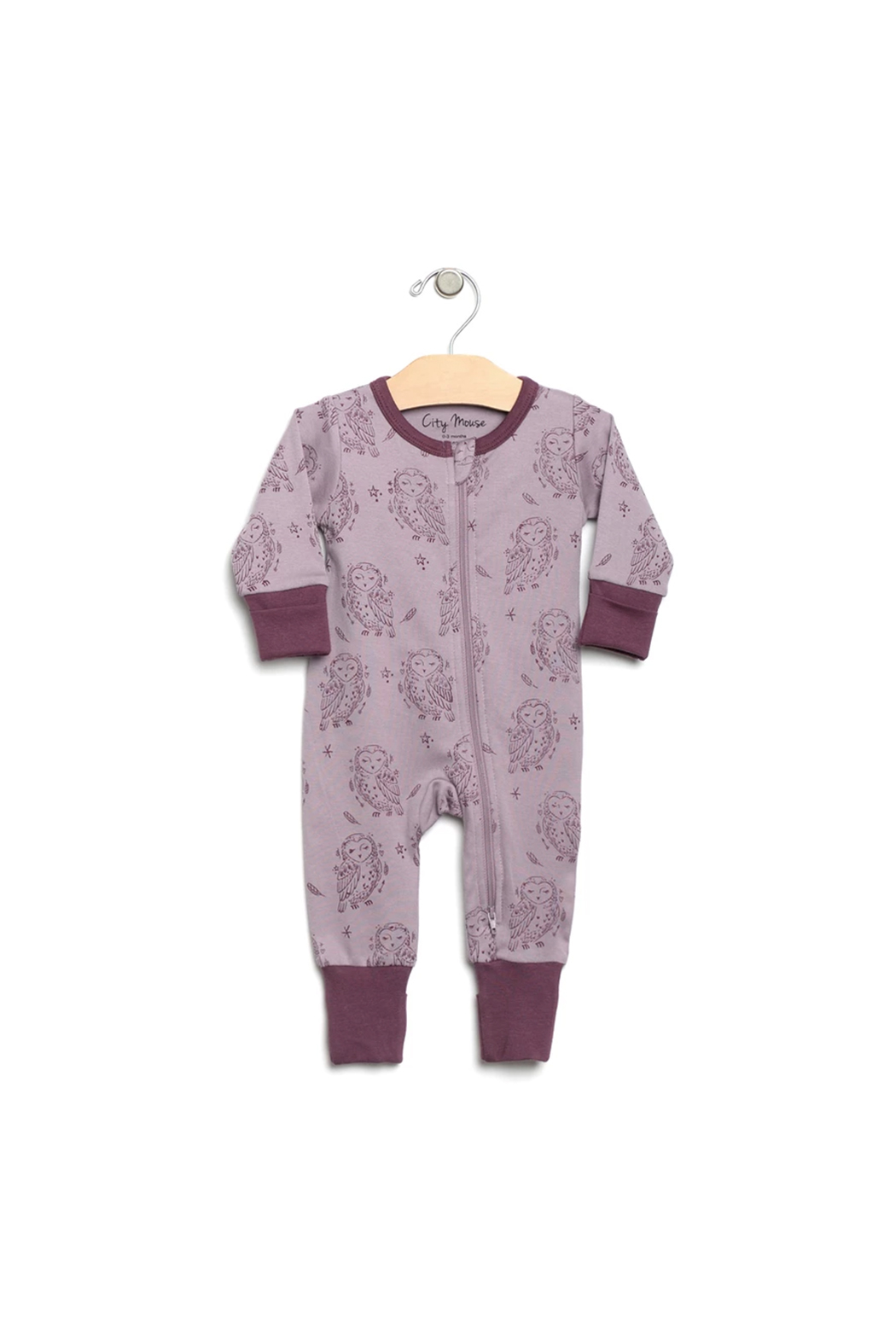 City Mouse Owl Romper - Main Image