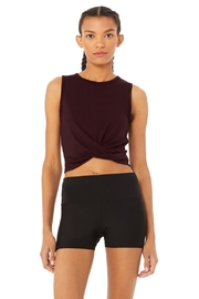 Alo Yoga  Oxblood Cover Tank - Product Mini Image