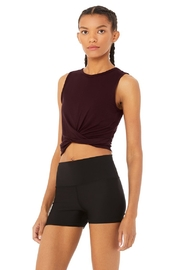 Alo Yoga  Oxblood Cover Tank - Front full body