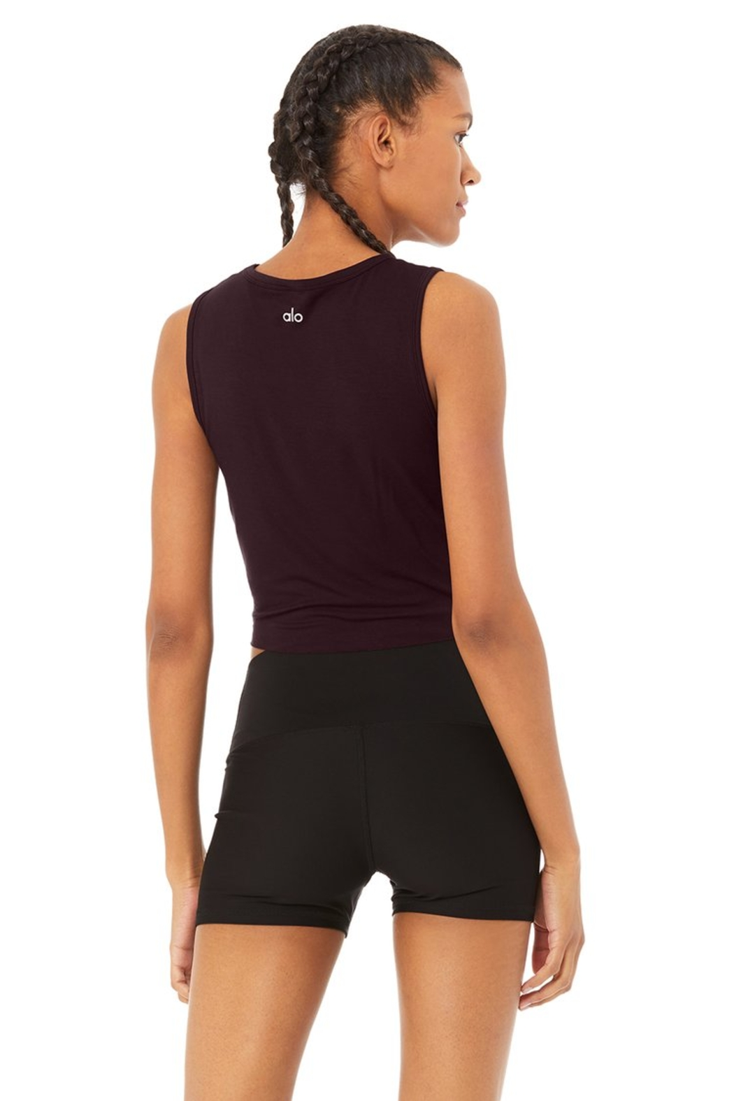 Alo Yoga  Oxblood Cover Tank - Side Cropped Image