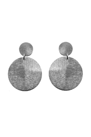 Marcia Moran Oxford Circle Earrings - Front cropped