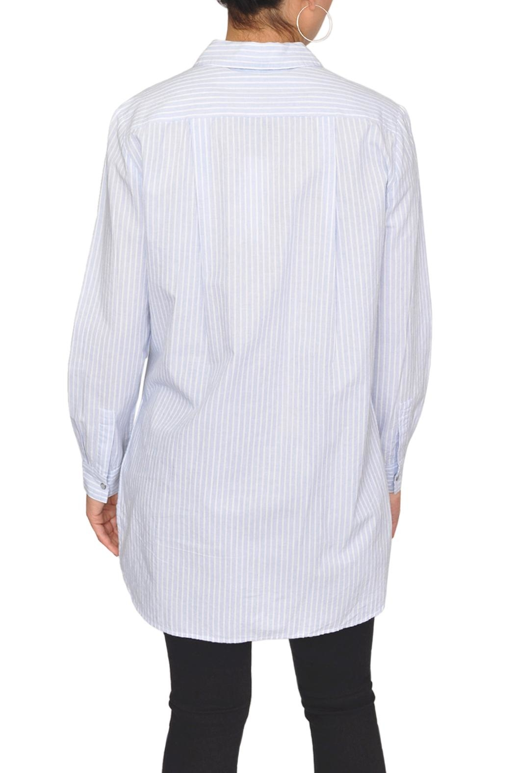 Designers Society Oxford Stripe Shirt - Side Cropped Image