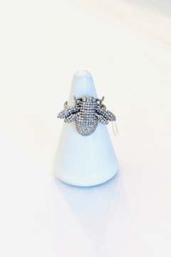 Shoptiques Product: Oxidized Diamond Bee Ring .75ct