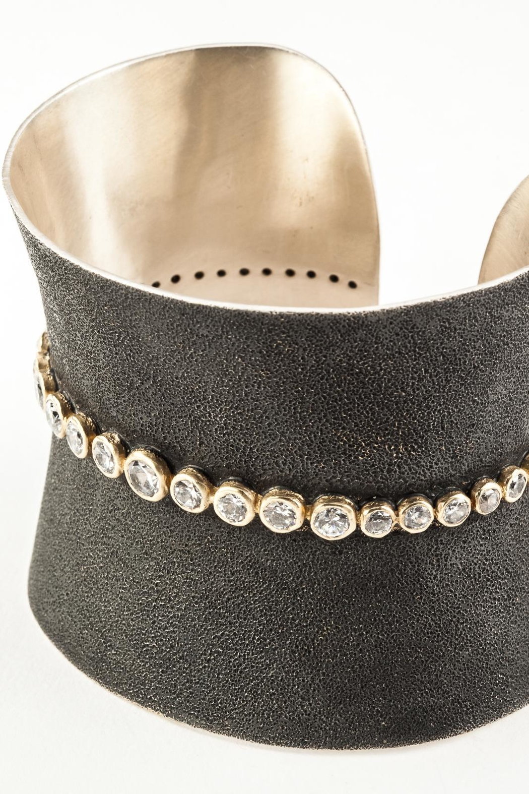 aaRaa Oxidized Silver Cuff - Front Full Image