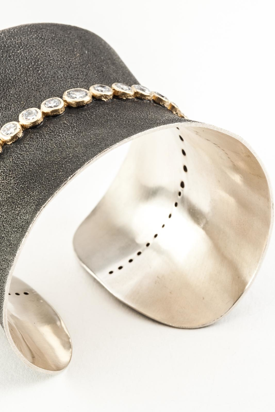 aaRaa Oxidized Silver Cuff - Side Cropped Image