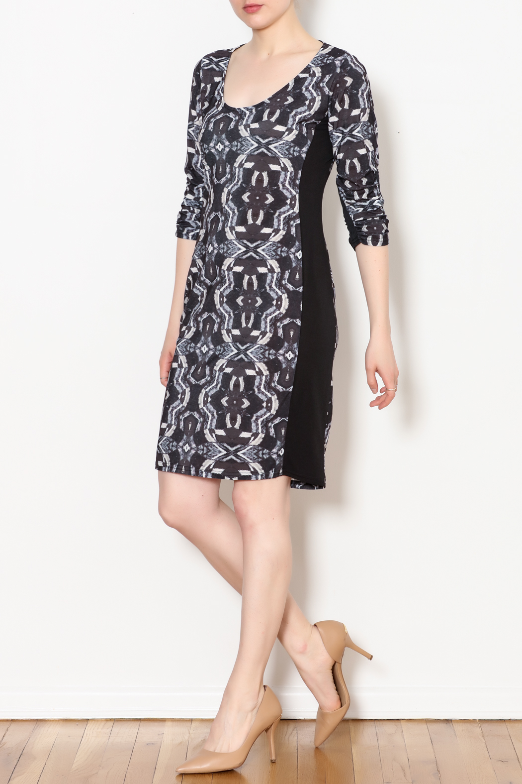 Viereck Oxy Contrast Side Panel Dress - Side Cropped Image