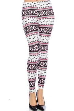 Shoptiques Product: Snowflake Print Leggings