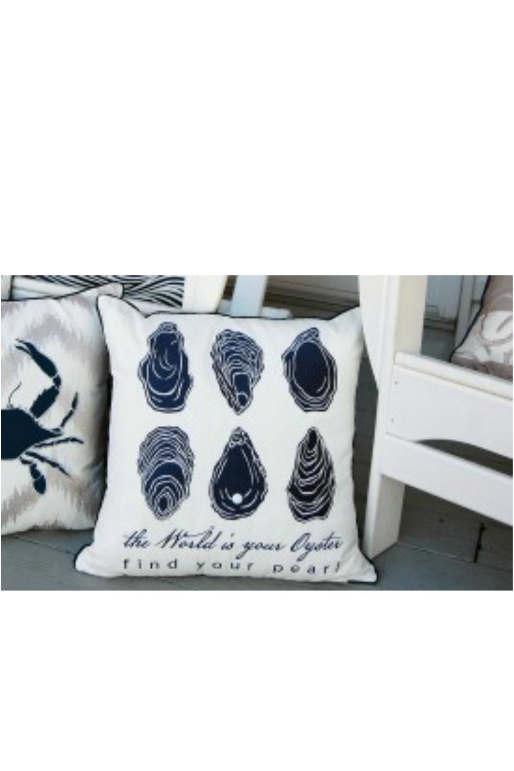 Rightside Design Oyster Outdoor Pillow - Front Full Image