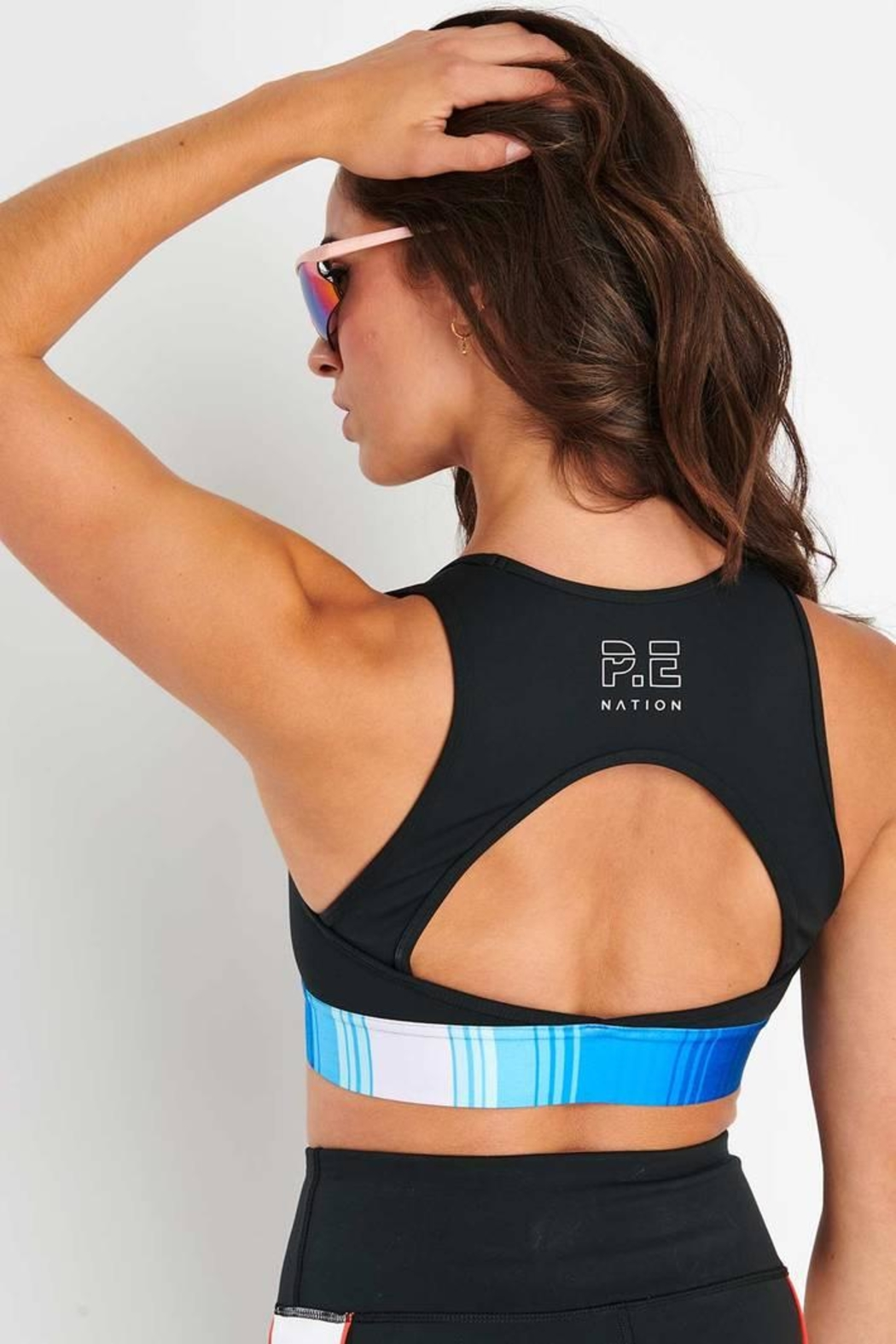 P.E NATION Lineal Success Bra - Front Full Image