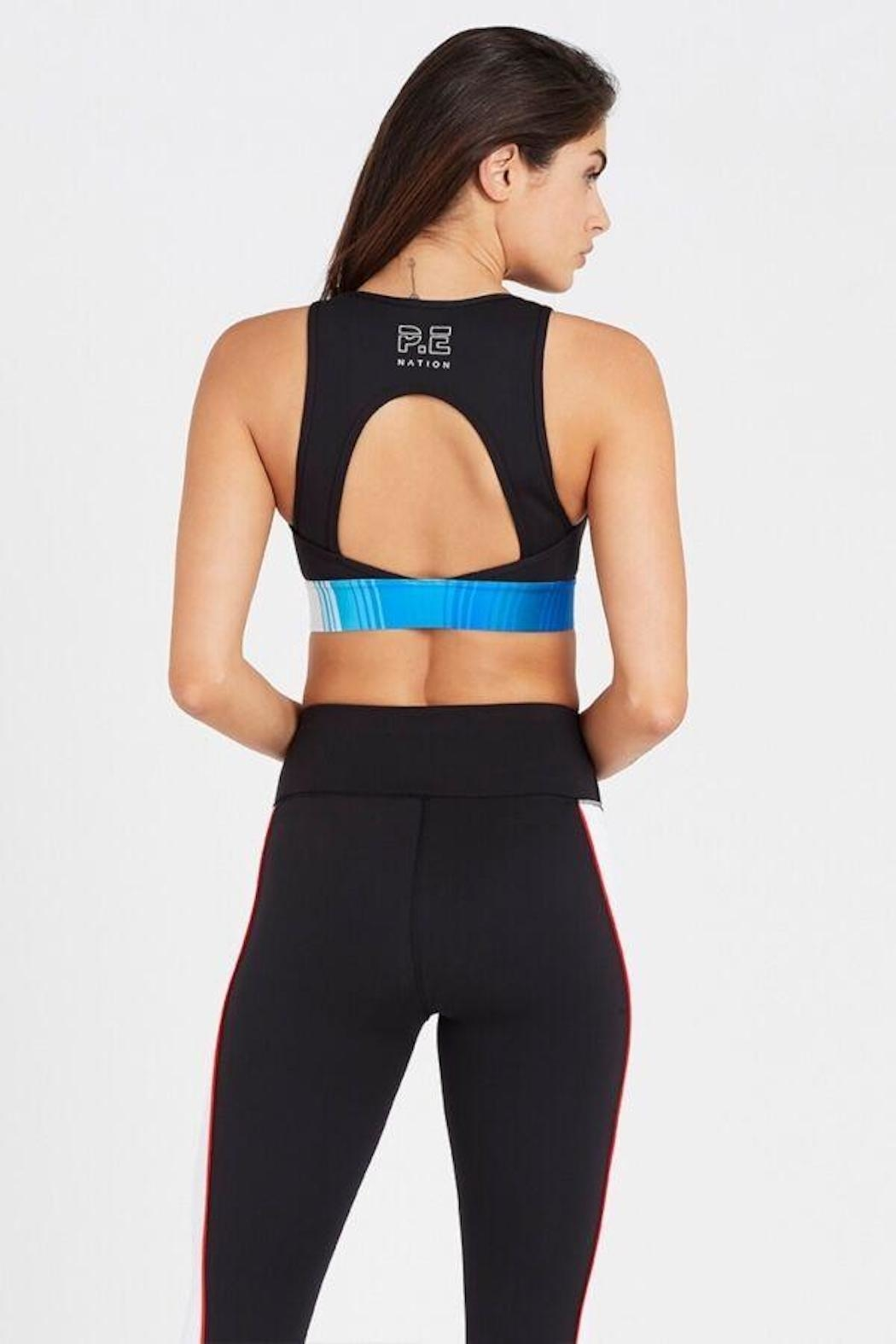 P.E NATION Lineal Success Sports Bra - Side Cropped Image