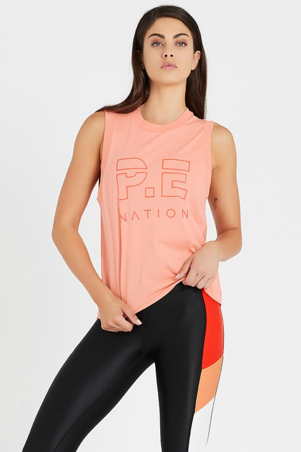 P.E NATION Shuffle Tank - Front Cropped Image