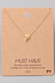 Fame Accessories P-Initial Pendant Necklace - Product Mini Image