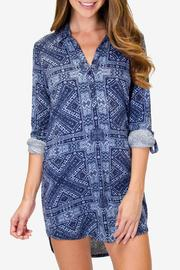 P.J. Salvage Blue Batik Nightshirt - Product Mini Image