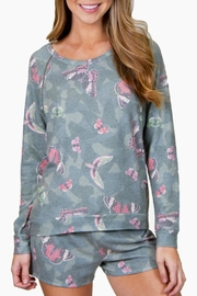 P.J. Salvage Butterfly Lounge Sweater - Front cropped