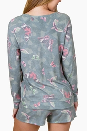 P.J. Salvage Butterfly Lounge Sweater - Front full body
