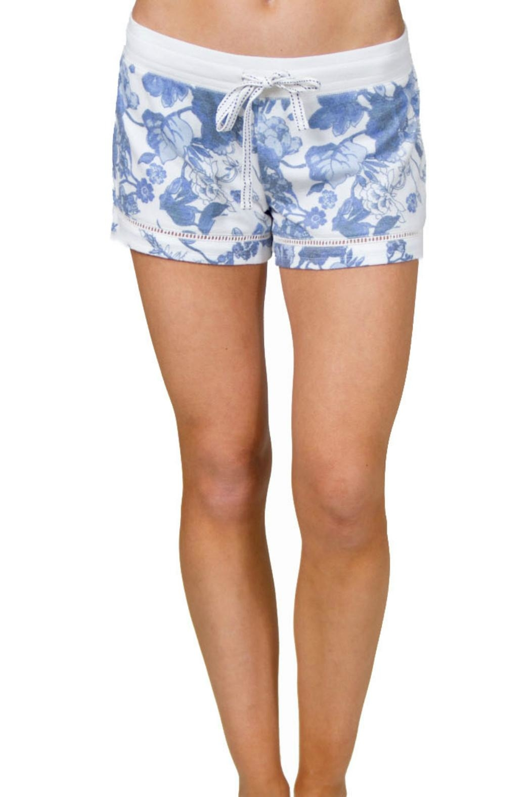 P.J. Salvage Floral Print Shorts - Front Cropped Image