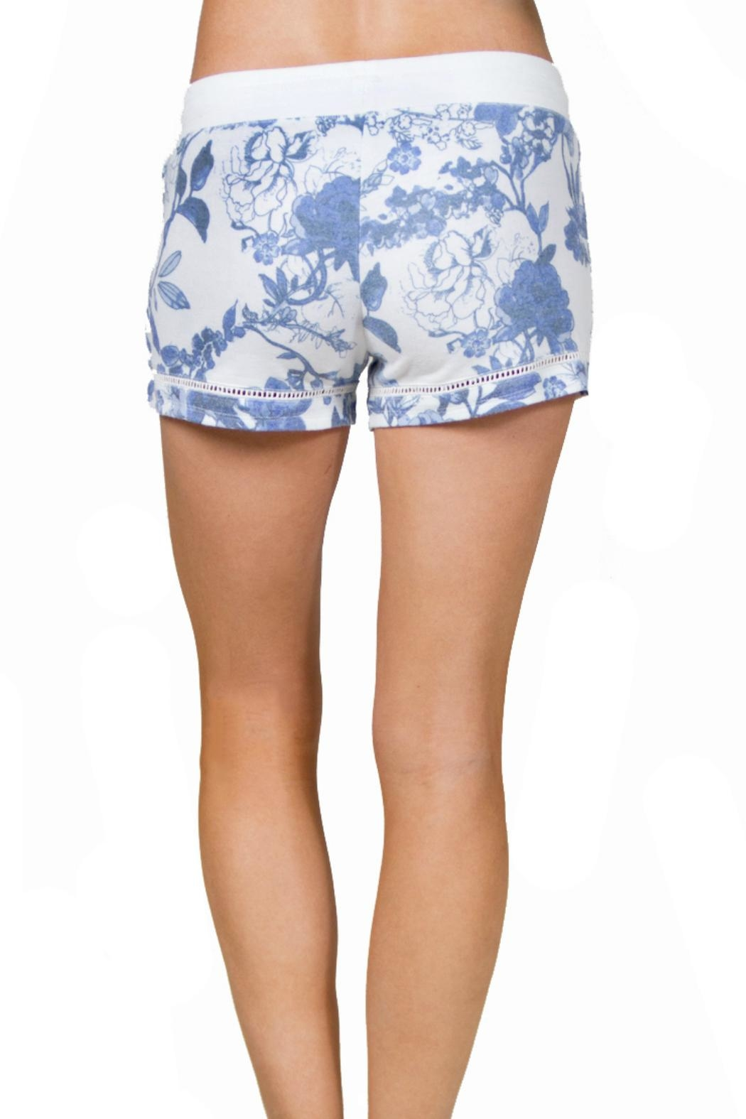 P.J. Salvage Floral Print Shorts - Front Full Image