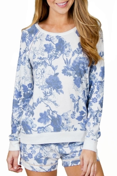 P.J. Salvage Floral Print Sweater - Product List Image