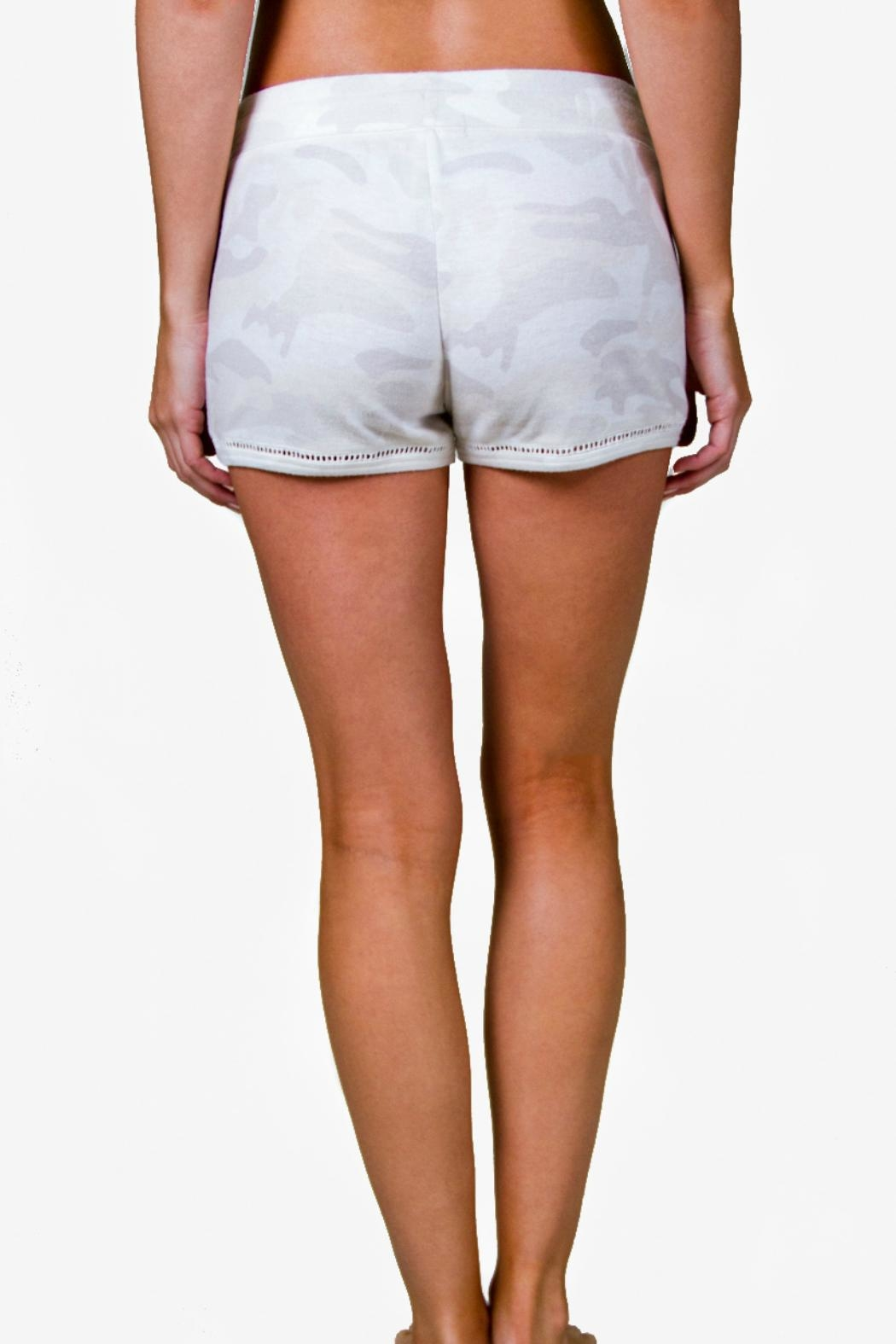 P.J. Salvage Ivory Camo Shorts - Front Full Image