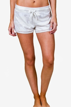 Shoptiques Product: Ivory Camo Shorts