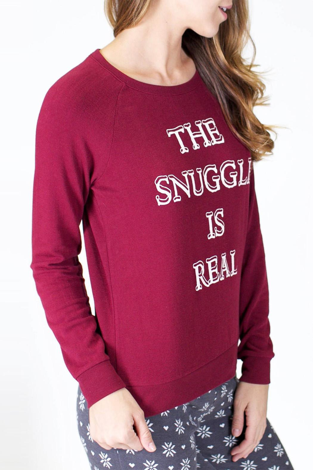 P.J. Salvage Long Sleeve Snuggle Sweater - Front Full Image