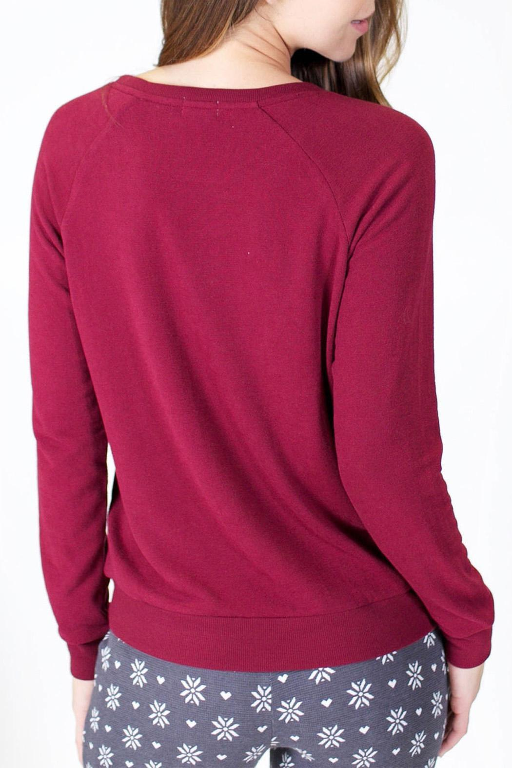 P.J. Salvage Long Sleeve Snuggle Sweater - Side Cropped Image