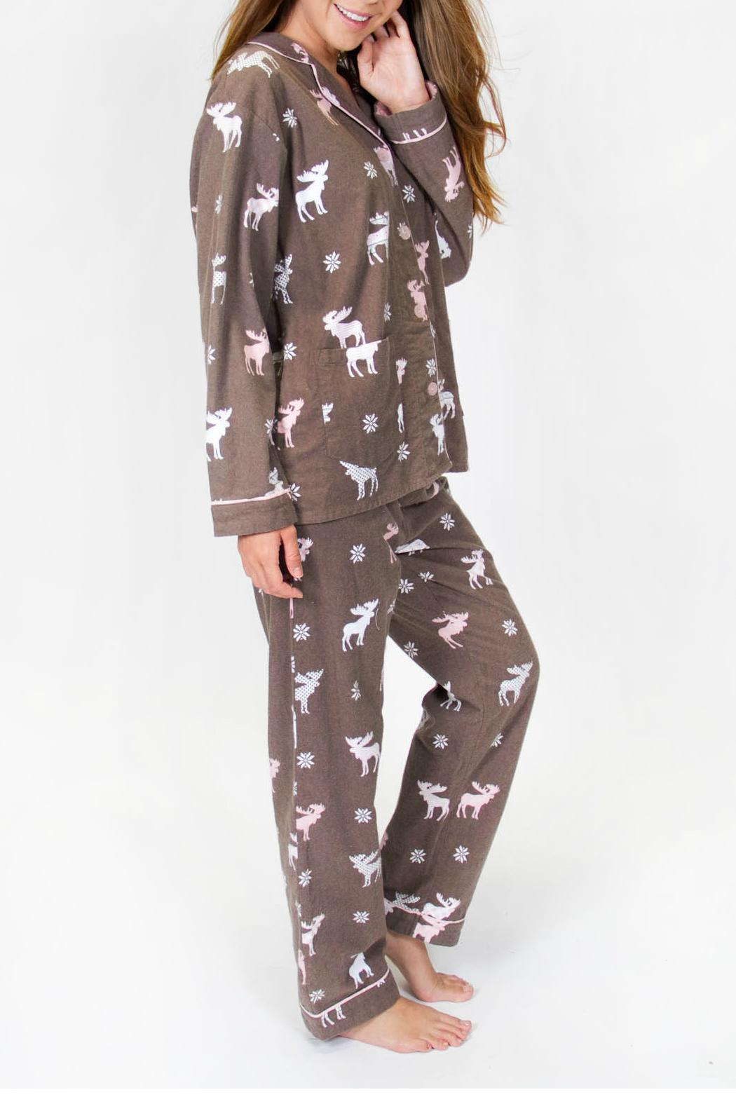 P J Salvage Moose Flannel Pajama From Canada By Blue Sky