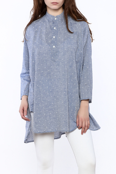 Shoptiques Product: Chambray Dotted Swiss Top